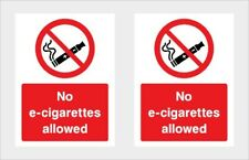 No E-CIg allowed Sticker x2 car,taxi,minibus,lorry,Van,Cafe,Restaurant,etc