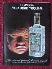 1977 Print Ad OLMECA Tequila ~ The Untamed Spirit of Mexican Mezcal Aztec Statue