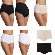 Ladies Ex M&S 2 Pack Cotton Rich Body Shaping Firm Control Full Briefs Size 8-22
