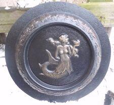 "mini birdbath mermaid  plastic mold concrete bird feeder mould 9"" x 1"" thick"