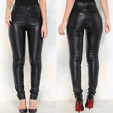 NWT Women's Vegan Leather Denim Stretch Jeans Size 1
