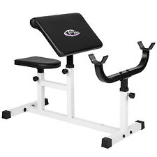 Preacher bicep arm curl bench training seated workout adjustable home fitness