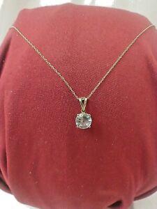 "10kt 18"" Chain With 10k Faux Diamond Pendant"