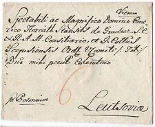 Austria Vienna 1794 cover to Slovakia Leutsovia via Posonium Bratislava