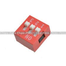 20PCS Red Pitch CF Slide Type Switch Module 2.54mm 3-Bit 3 Position Way DIP