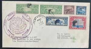 1929 USA Graf Zeppelin LZ 127 Round The World Flight Cover To Los Angeles CA