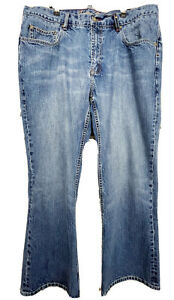 Indigo Palms Men's 40x30 Boot Cut Blue Cotton Denim Jeans Medium Wash