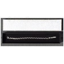 Brazalete De Plata-Plain Silver Cadena Para Dijes - 19cm-Regalo En Caja