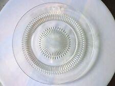"""Set of 6 Jeannette Glass Anniversary Pattern Sandwich Plates 9 1/4"""" Wide"""