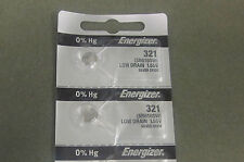 Energizer Watch Batteries 321 SR616SW SR616 Silver Oxide Battery(2Pcs)