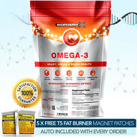 OMEGA 3 FISH OIL SOFTGELS -STRONGEST AVAILABLE PHARMA GRADE 1000MG -35% DHA/EPA!