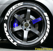 """TIRE LETTERS - 1"""" TALL - LOW PROFILE - toyo tires R888 - (SWOOSH DESIGN)"""