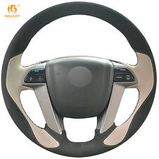 Black Suede Beige Leather Steering Wheel Cover for Honda Accord 8 Odyssey Pilot