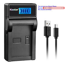 Kastar Battery LCD USB Charger for Sony NP-QM71D & Cyber-shot DSC-F828 DSC-R1
