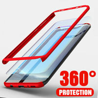 For Samsung Galaxy S20 FE S10 S9/8 Full Protect Hard Case Cover + Tempered Glass