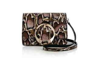 NEW, JIMMY CHOO 'MADELINE' SNAKE BLUSH MIX CROSSBODY HANDBAG, $2275
