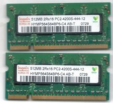 Hynix HYMP564S64BP6-C4 AB 2 x 520MB 2R-8 PC2-4200S-444-12 SODIMM 200 Pin Laptop