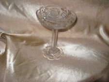 LEAD CRYSTAL PEDESTAL FRUIT COMPOTE/ CANDY DISH