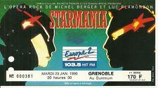 RARE / TICKET CONCERT - STARMANIA / MICHEL BERGER PLAMONDON LIVE A GRENOBLE 1990