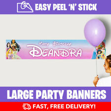 Disney Princess Personalised Birthday Party Banners (110cm Width) Design Service