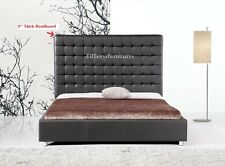 #4005 Gorgeous Modern Queen Size black PU Leather bed