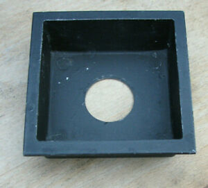 """Calumet 4x4"""" metal 32mm recessed lens board panel with copal 0 hole"""