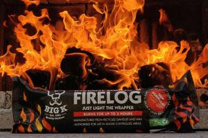 BIG K INSTANT LIGHTING FIRELOG DEFRA APPROVED SMOKE FREE BURNS UPTO 3HRS 10 PACK