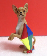 Danbury Mint Begging To Fly Kite Chihuahua Dog Miniature Figurine