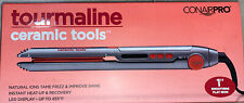 "Conair Pro TOURMALINE Ceramic Tools 1"" Smoothing Flat Iron Up To 455 F"