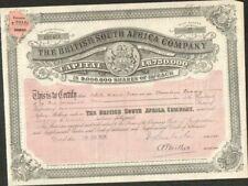 DECO => THE BRITISH SOUTH AFRICA Cy  (ROYAUME-UNI AFRIQUE DU SUD) (W)