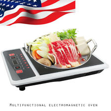 Upgraded Electric 1300W Induction Cooker Cooktop Burner Countertop Oven Home