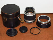 RE Auto TOPCOR lens - 35mm F2.8 Topcon/Exakta bayonet mount w/case, caps, hood