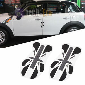 NEW 2X UK Flag 3D Side Door Edge Protection Guards Trim Sticker for MINI