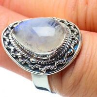 Rainbow Moonstone 925 Sterling Silver Ring Size 6.25 Ana Co Jewelry R31341F
