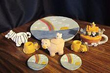 Vintage 1995 Young's Noah's Ark Doll Size Mini Tea Set, 10 pcs.