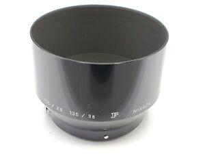 Genuine Nikon F HS-4 Metal Clip-On Lens Hood for 105mm F2.5 135mm F3.5 105mm F4