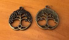 Ancient Bronze Tree of life charms / pendant x 12