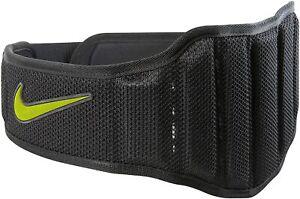 Nike Structured Lifting Training Belt Weight Lifting Gym Belt, Black/Volt NEW