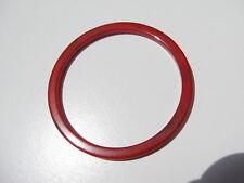 VINTAGE RETRO VIVID RED BLACK MARBLE BAKELITE SQUARE EDGE SPACER BANGLE BRACELET