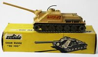 Solido Diecast Military Army Tank CHAR RUSSE SU 100 URSS 3/1964 Made France 208