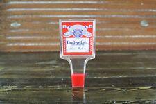 Vintage Budweiser Beer Tap Pull Handle Keg Label