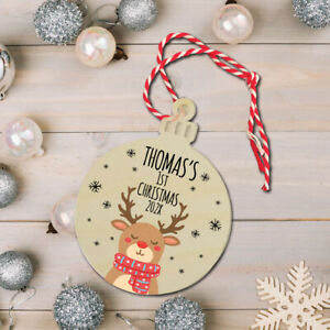 Personalised Baby, Children's Christmas Tree Bauble,My 1st Christmas Decoration