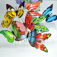 32cm DIY Colorful Garden Butterflies Ornaments On Sticks Butterfly Stakes Lot