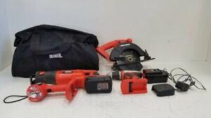 Black & Decker 6pc.ComboTool Set 18V Battery,Charger, (2)Saws, Drill Light w/Bag