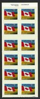 Canada Scott 1192a: 39c Quick Stick Booklet Pane of 12 self-adhesives, VF-NH