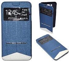 Housse Coque Etui Intelligente View Bleu pour Samsung Galaxy ALPHA