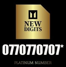 EXCLUSIVE UNIQUE GOLD VIP BUSINESS MOBILE PHONE NUMBER SIM CARD 0770770707*