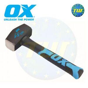 OX Tools 2.5lb Club Lump Hammer Hardened Steel Face & Fibreglass Handle T081302