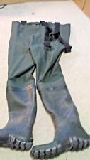 Frogg Toggs Cascades 2 Ply Poly Rubber Bootfoot Cleated Chest Wader Size 7