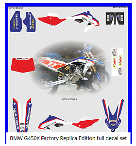 BMW G450X Factory Replica Edition full decal set